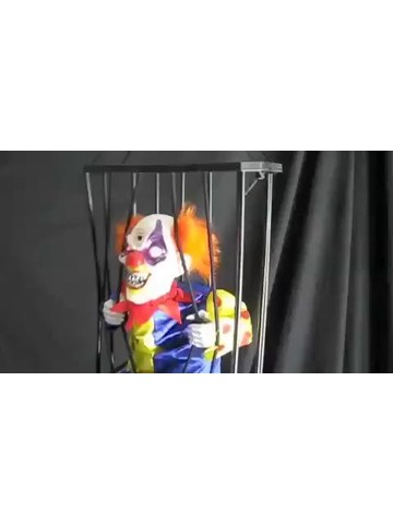 "10.5"" Animated Caged Clown Prop"