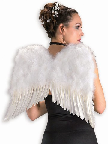 22 Inch White Feather Wings