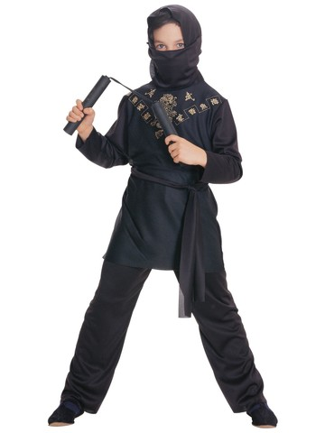 Black Ninja Child Small Costume