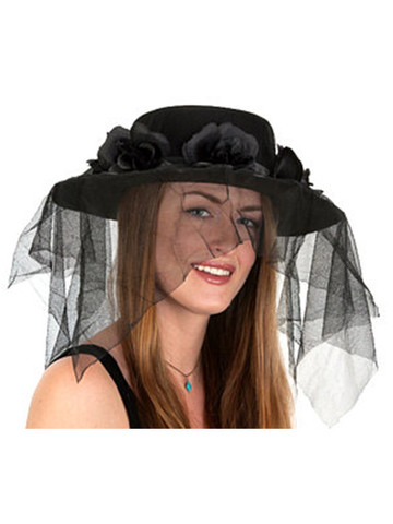 Black Spanish Hat With Veil