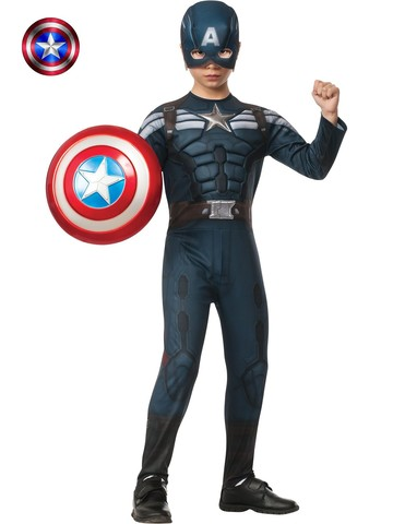 Boy's Deluxe Captain America 2 Stealth Muscle Costume