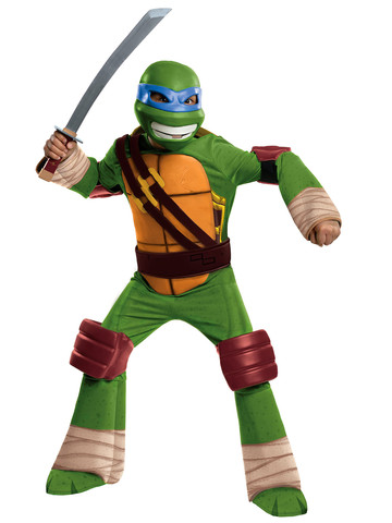 Boy's Deluxe Teenage Mutant Ninja Turtles Leonardo Costume