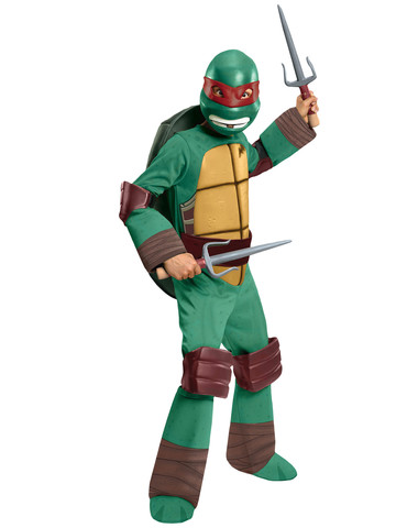 Boy's Teenage Mutant Ninja Turtles Deluxe Raphael Costume
