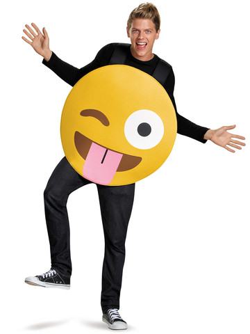 Emoji Tongue Out Adult Costume