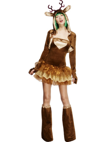Women's Fever Reindeer Costume