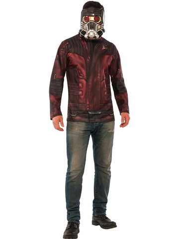 Adult Guardians of the Galaxy Vol. 2 - Star-Lord Costume Top Mask Set