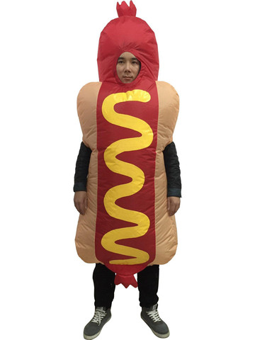 Adult Hotdog Inflatable Costume