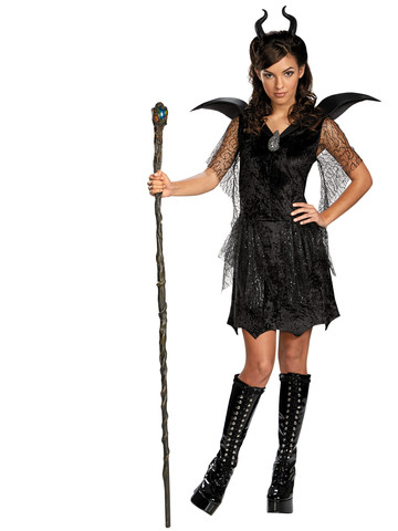 Maleficent Black Gown Tween/Teen Deluxe Girl's Costume