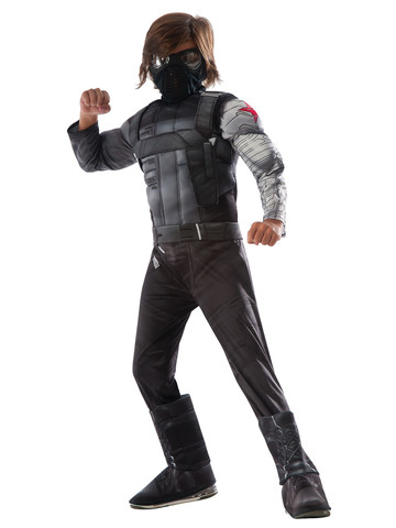 Marvel's Captain America: Civil War - Boys Deluxe Muscle Chest Winter Soldier Costume