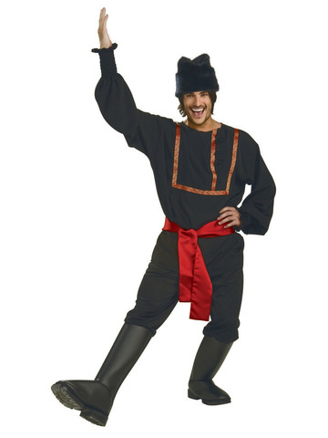 Men's Black Russian Costume