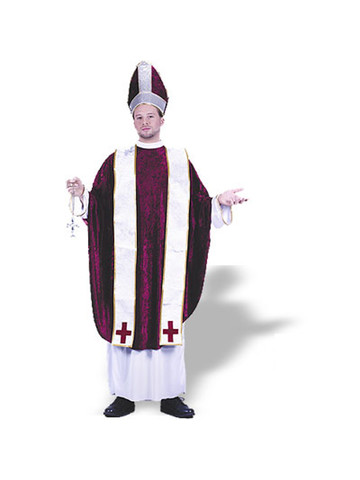 Men's Cardinal Costume with Velvet Tunic