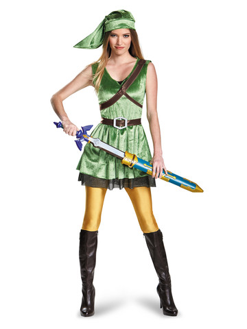 Nintendo's The Legend Of Zelda Link Women's Costume