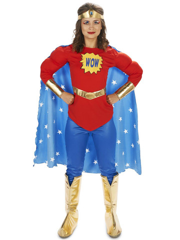 Pop Art Comic Super Woman Adult Costume