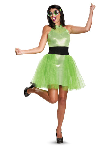 Girls Powerpuff Buttercup Costume Deluxe