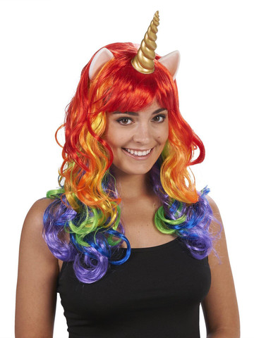 Rainbow Unicorn Adult Wig