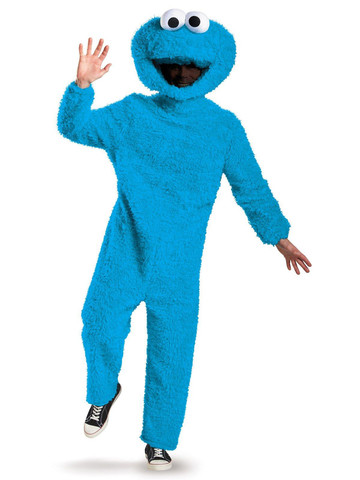 Sesame Street Plush Prestige Adult Cookie Monster Costume