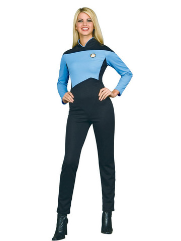 Star Trek: The Next Generation - Deluxe Science Blue Shirt - Adult Womens Costume