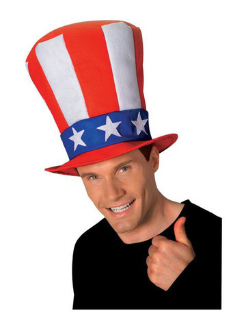 Stars and Stripes Stovepipe Hat