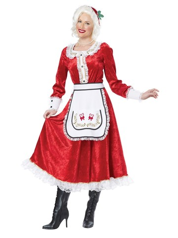 Women's Classic Mrs. Claus Costume