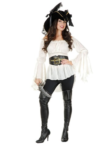 Women's Pirate Lady Vixen Blouse Costume