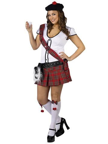 Women's Plus Sexy Scottie Hottie Costume