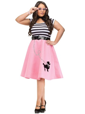 Women's Plus Size Poodle Skirt Dress