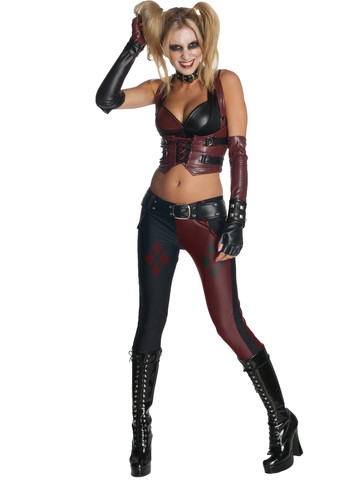 Women's Sexy Batman Arkham City Harley Quinn Costume