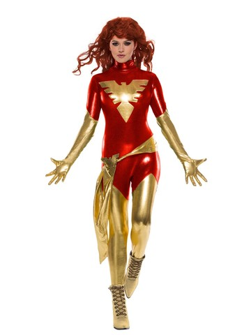 Adult X-Men Red Sexy Dark Phoenix Costume